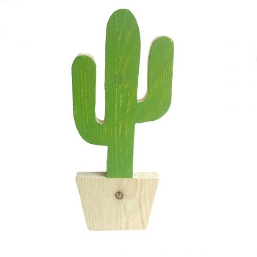 handgemaakte mexicaanse cactus van steigerhout