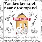 van keukentafel naar droompand krantenartikel Liefsfabriek
