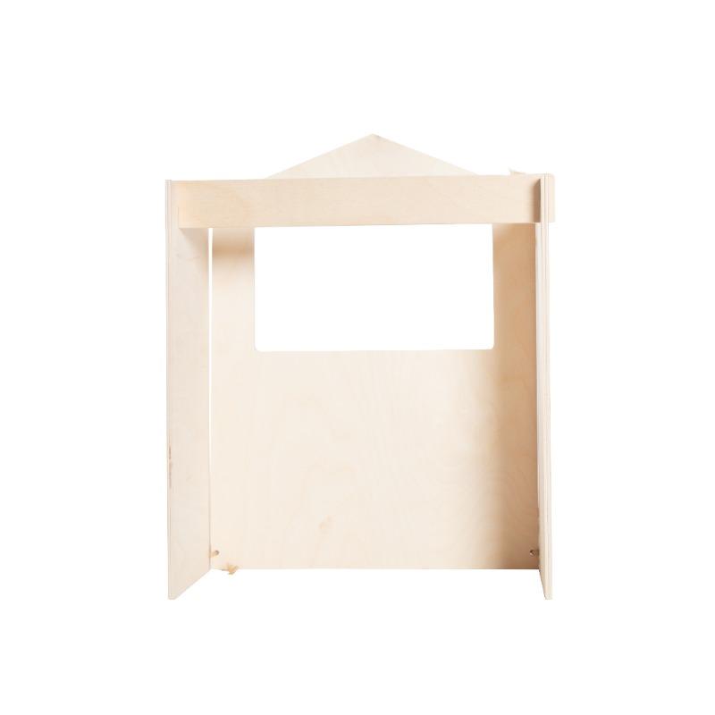 houten poppenkast voor vingerpoppetjes