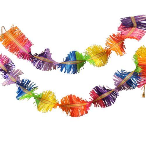 handgeweven feestelije slinger in regenboogkleuren