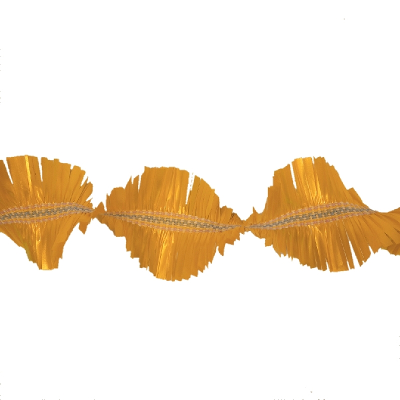 gele slinger handgeweven met cadeaulint