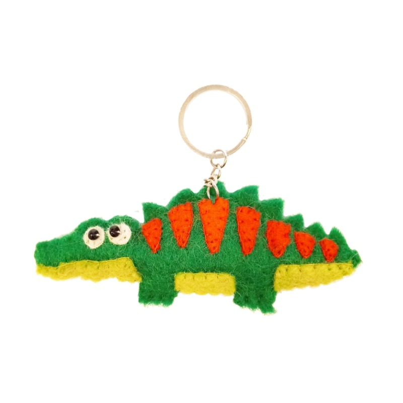 krokodil sleutelhanger vilt