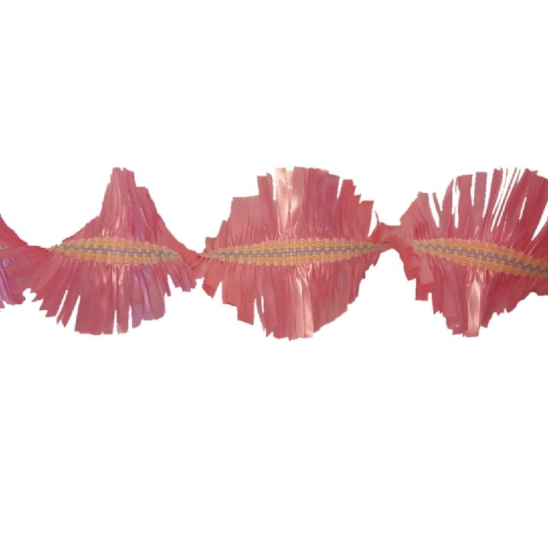detail van roze slinger