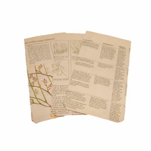 set van 3 cadeauzakjes van oude boeken over tuinieren
