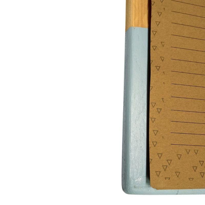 klembord van pallethout in blauw