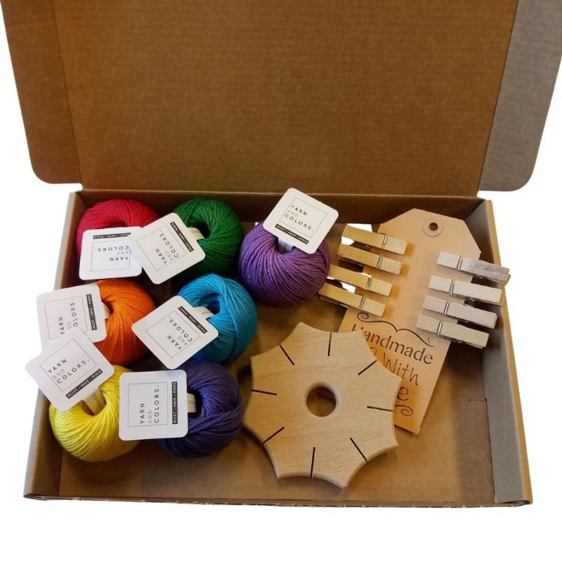 maak het zelf pakket knoopster regenboog